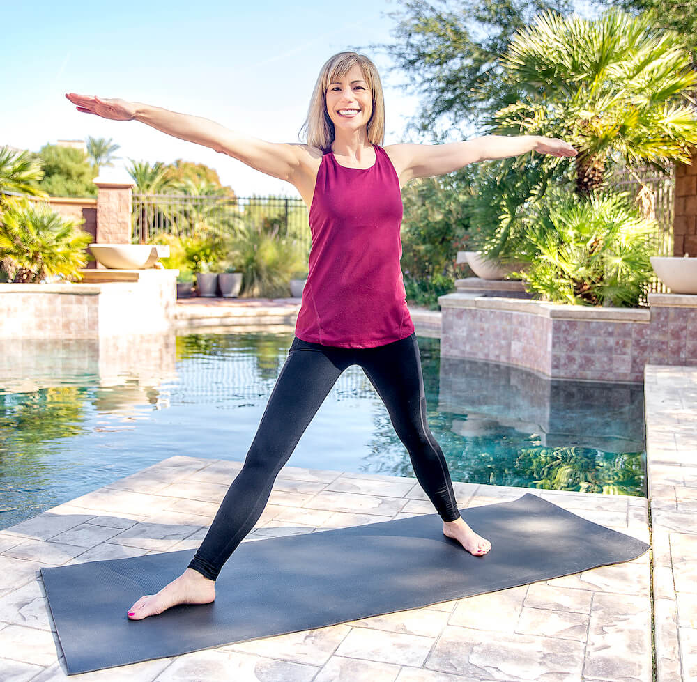 Laura doing yoga